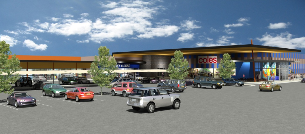 An artist's impression of the Coles |supermarket in Northam.