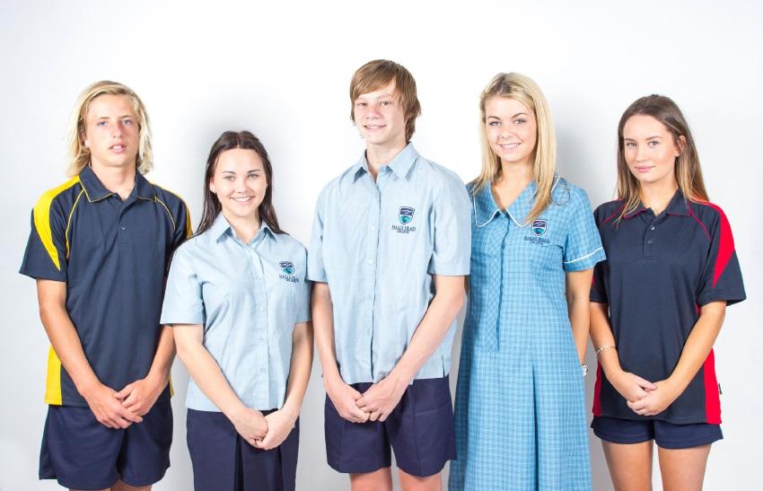 The Halls Head College uniform.