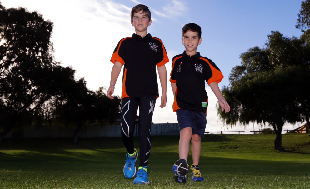 Scott Guerini and brother, Damien. Picture: Martin Kennealey  d455875