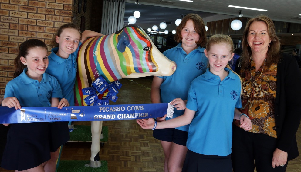 Mindarie Primary School's Milkshake won the northern suburbs Picasso Cow competition, which St Anthony's, Koondoola and Tapping primary schools also entered. Picture: Martin Kennealey   d455470