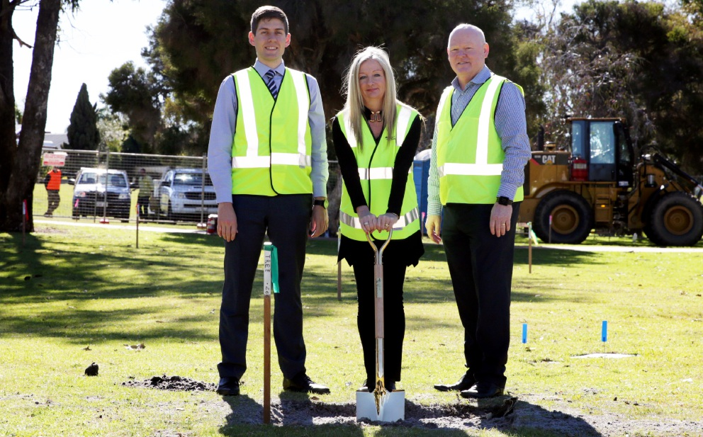 Wanneroo Mayor Tracey Roberts with councillors Domenic Zappa and Brett Treby. Picture: Martin Kennealey