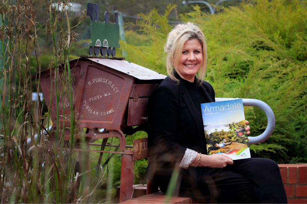 City of Armadale tourism co-ordinator Suzy Parravicini with the new Armadale tourism guide.