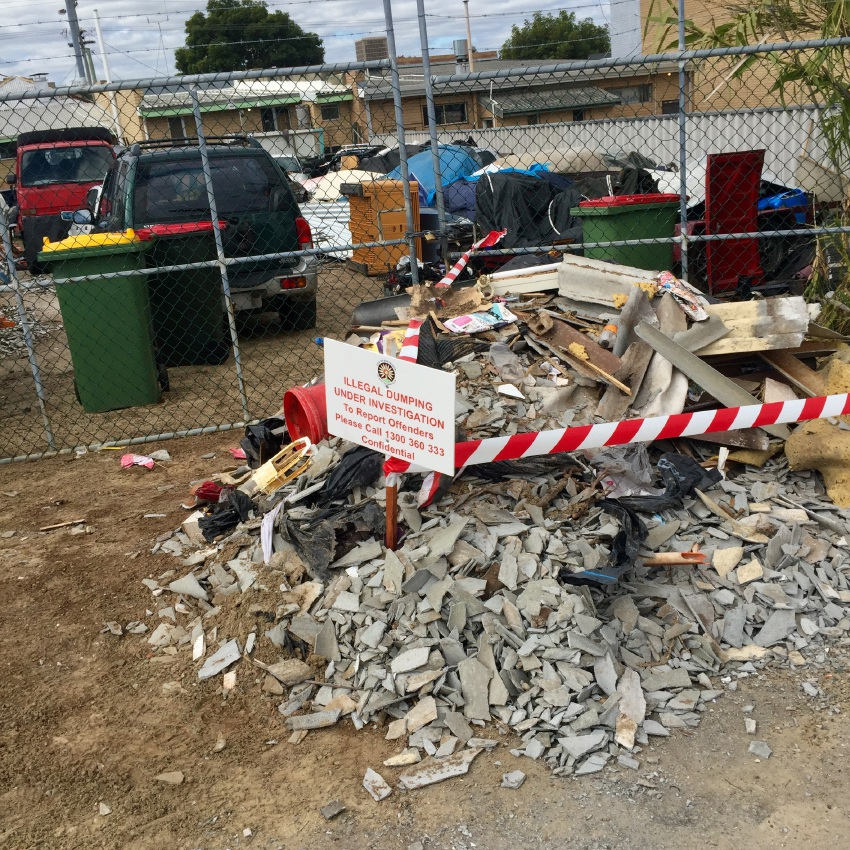 The dumped asbestos in Bayswater.