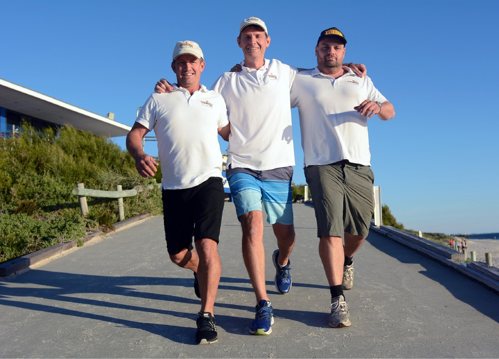 The Cherratta Lodge team includes (l-r) Mal Wylie, Tom Atkinson and Bernard Shapland. Picture: Jon Bassett.