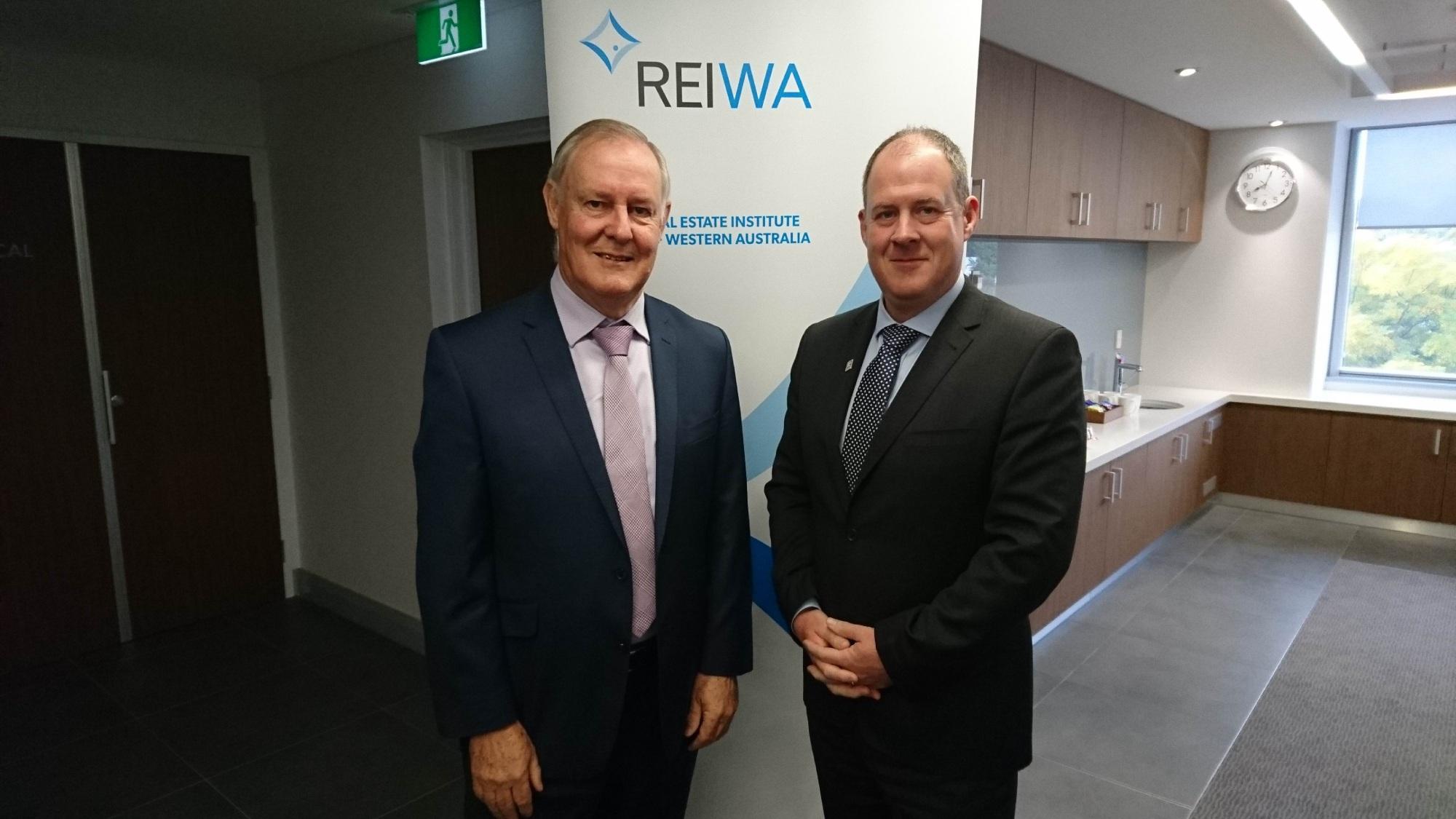 REIWA CEO Neville Pozzi (left) and President Hayden Groves.