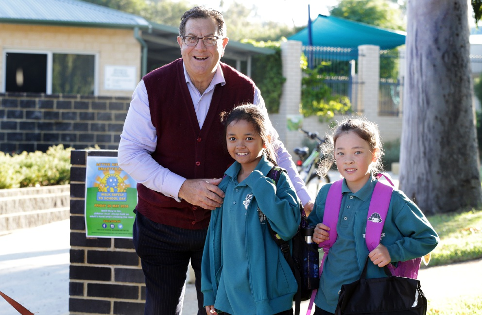 West Morley Primary School Walk Safely to School Day. Pictures: Martin Kennealey d454321
