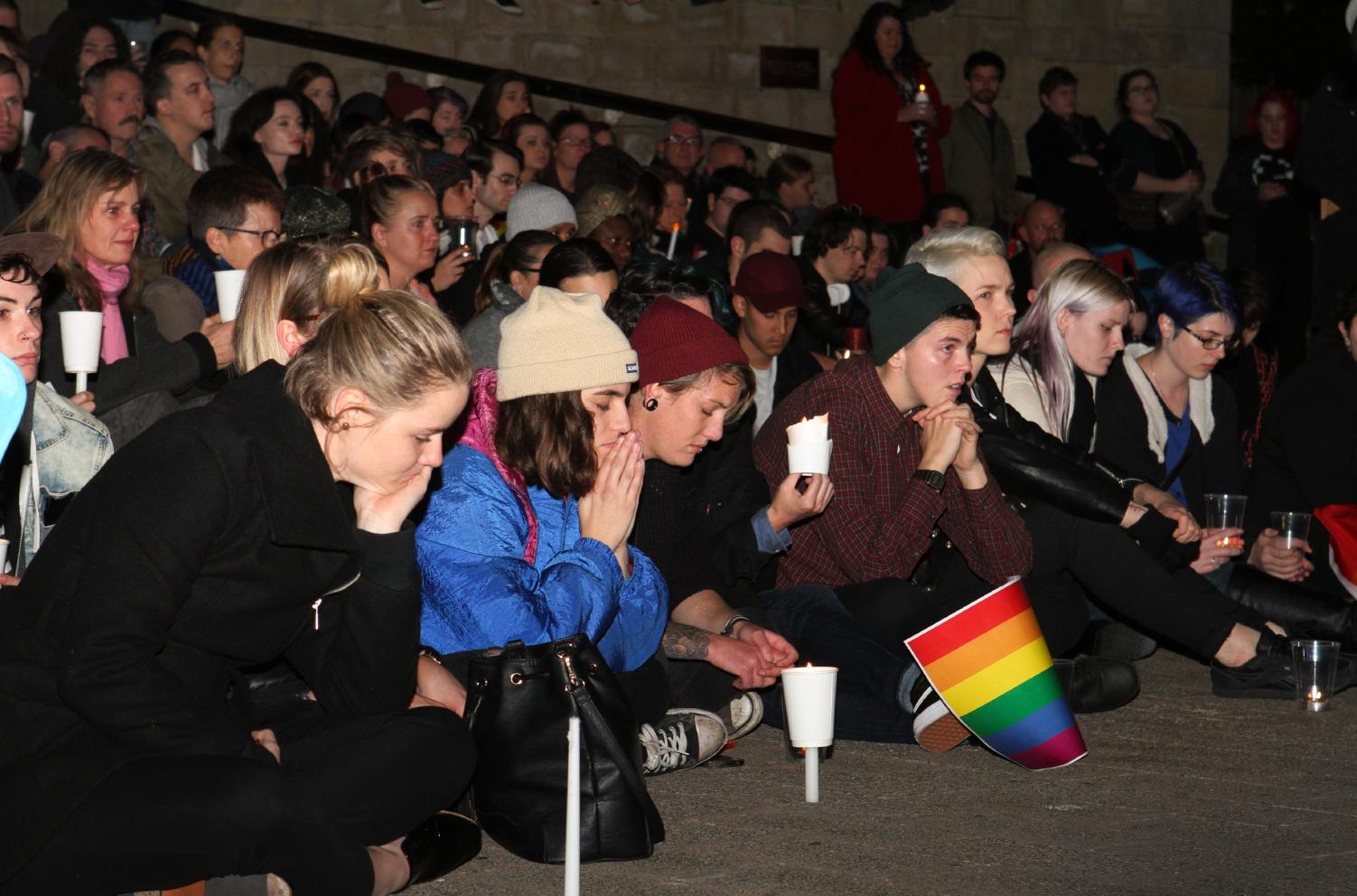 Orlando candle vigil. Pictures: Robin Kornet