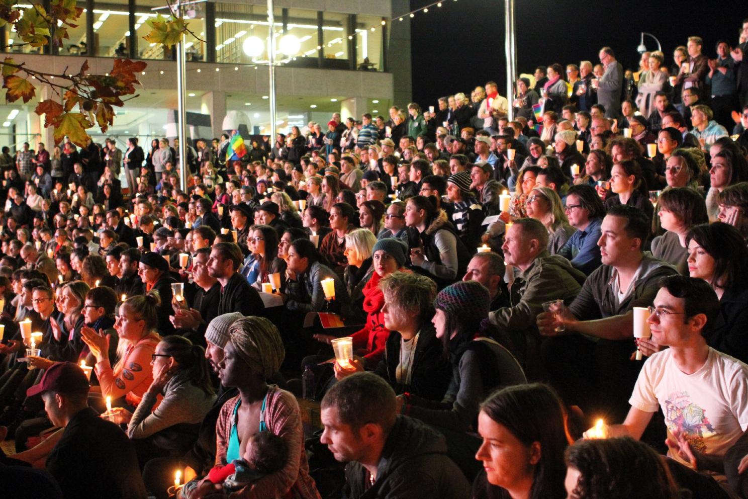Orlando shooting: hundreds gather at Perth candle vigil in memory of 49 victims