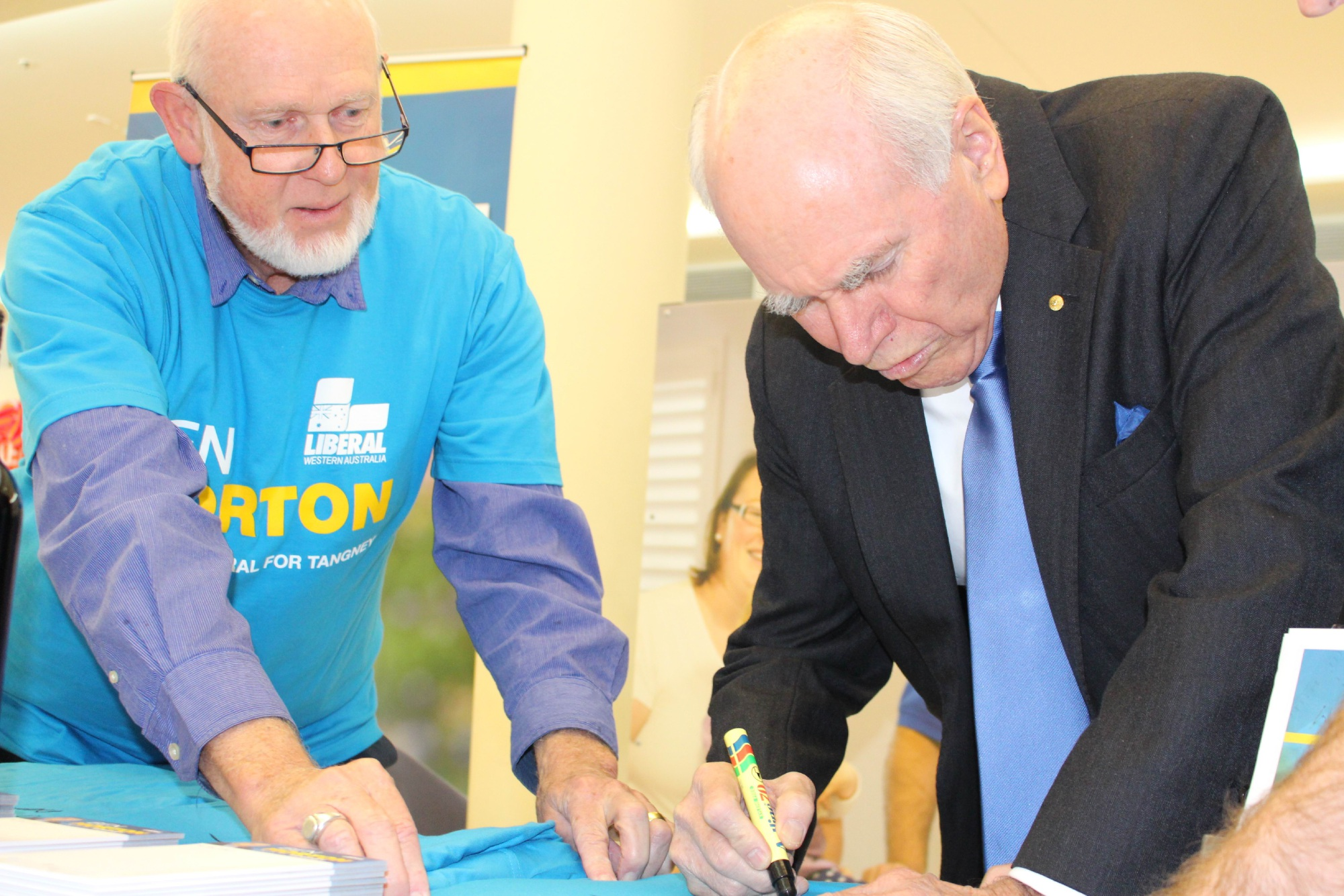 Former PM John Howard hits campaign trail with Tangney Liberal candidate