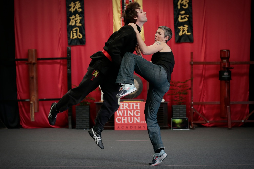 Daniel King (senior instructor) and Rachael Bernsousa (instructor) will be running a self defence workshop for women. Picture: Andrew Ritchie