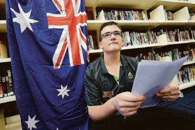 Kelmscott Senior High School head boy Kallum Phillips off to Malaysia for Anzac Day service