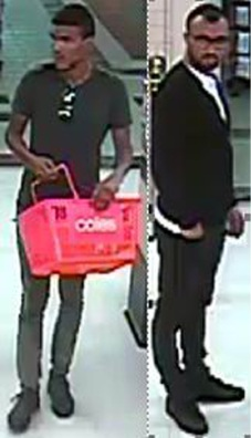 Police want to speak with these two men about an assault on an 83-year-old man at Westfield Innaloo Shopping Centre.