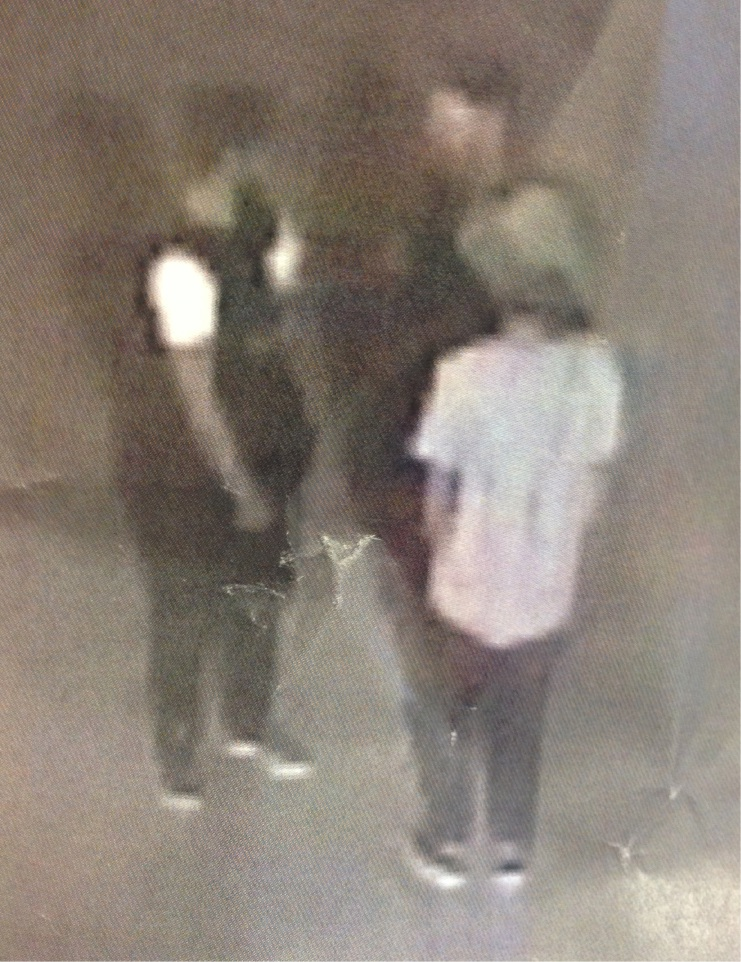 CCTV footage shows the man pictured on the far left was involved in a one-punch attack in Leederville.