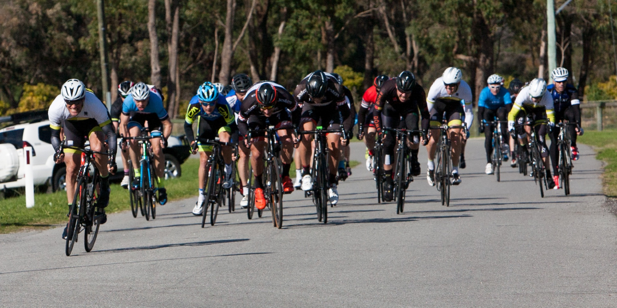 Strong southerly sorts riders on Serpentine circuit