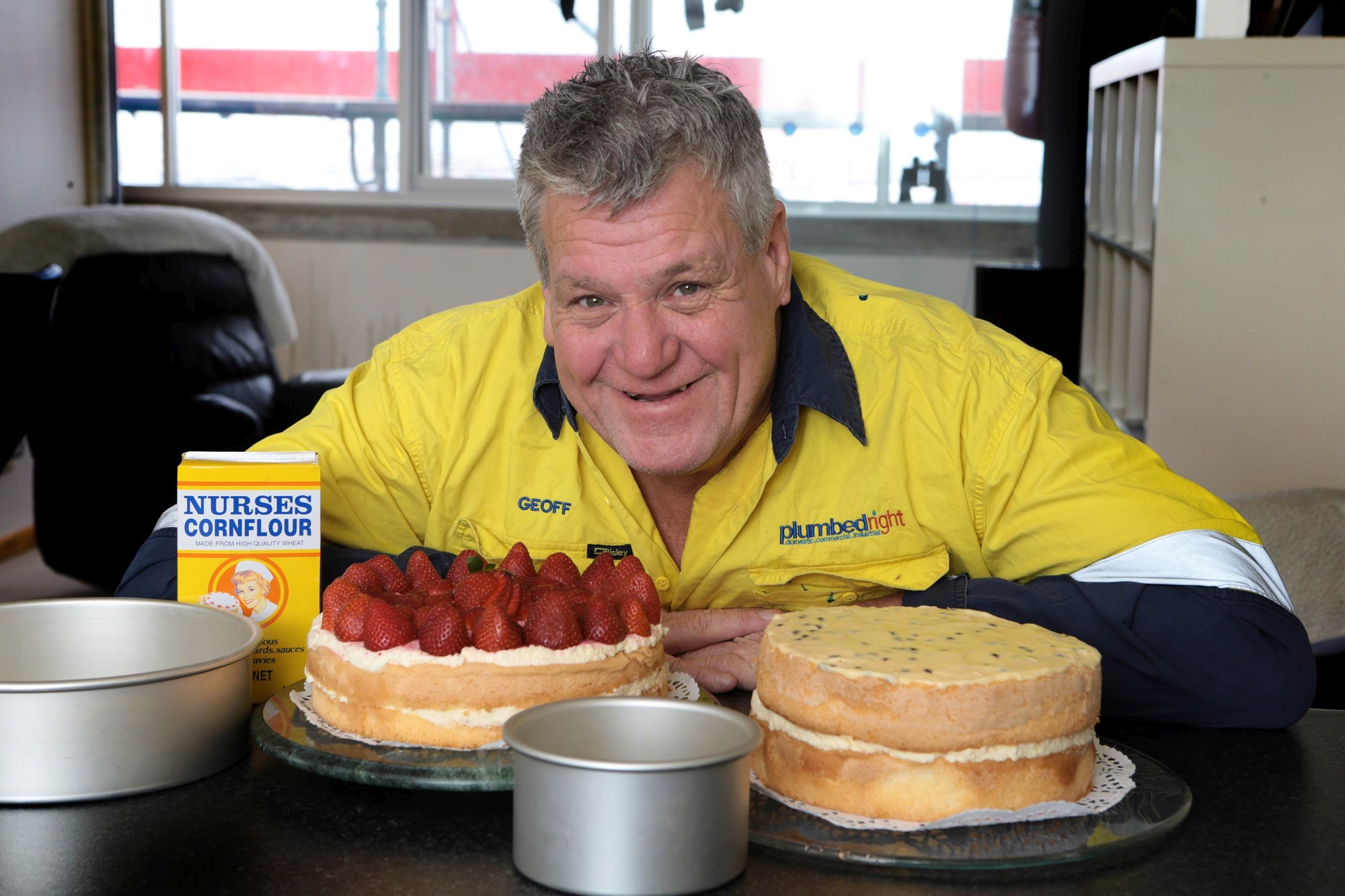 Plumber turned cake maker Geoff Cox. Picture: Martin Kennealey d428042