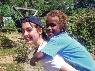 Katelyn Persich at the Christian Care Centre run by the Community of the Sisters of the Church.