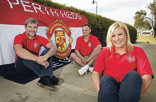 Perth Reds members Ryan Hunt, Stuart Darwell and Aimee Logan. Picture: Elle Borgward www.communitypix.com.au d428367