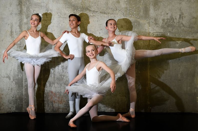 Perth Ballet School students Ayesha Lucido, Tyler Lindsay, Emily Gleeson and Milla Brinsden. Picture: Marcus Whisson www.communitypix.com.au d428429