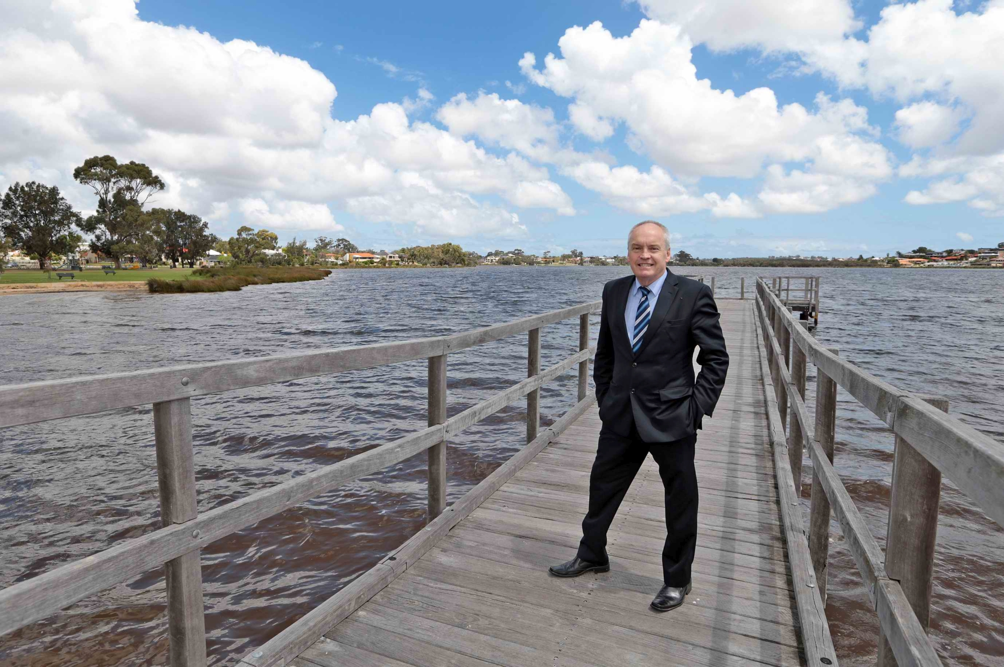 Melville Mayor Russell Aubrey at the Shelley foreshore
