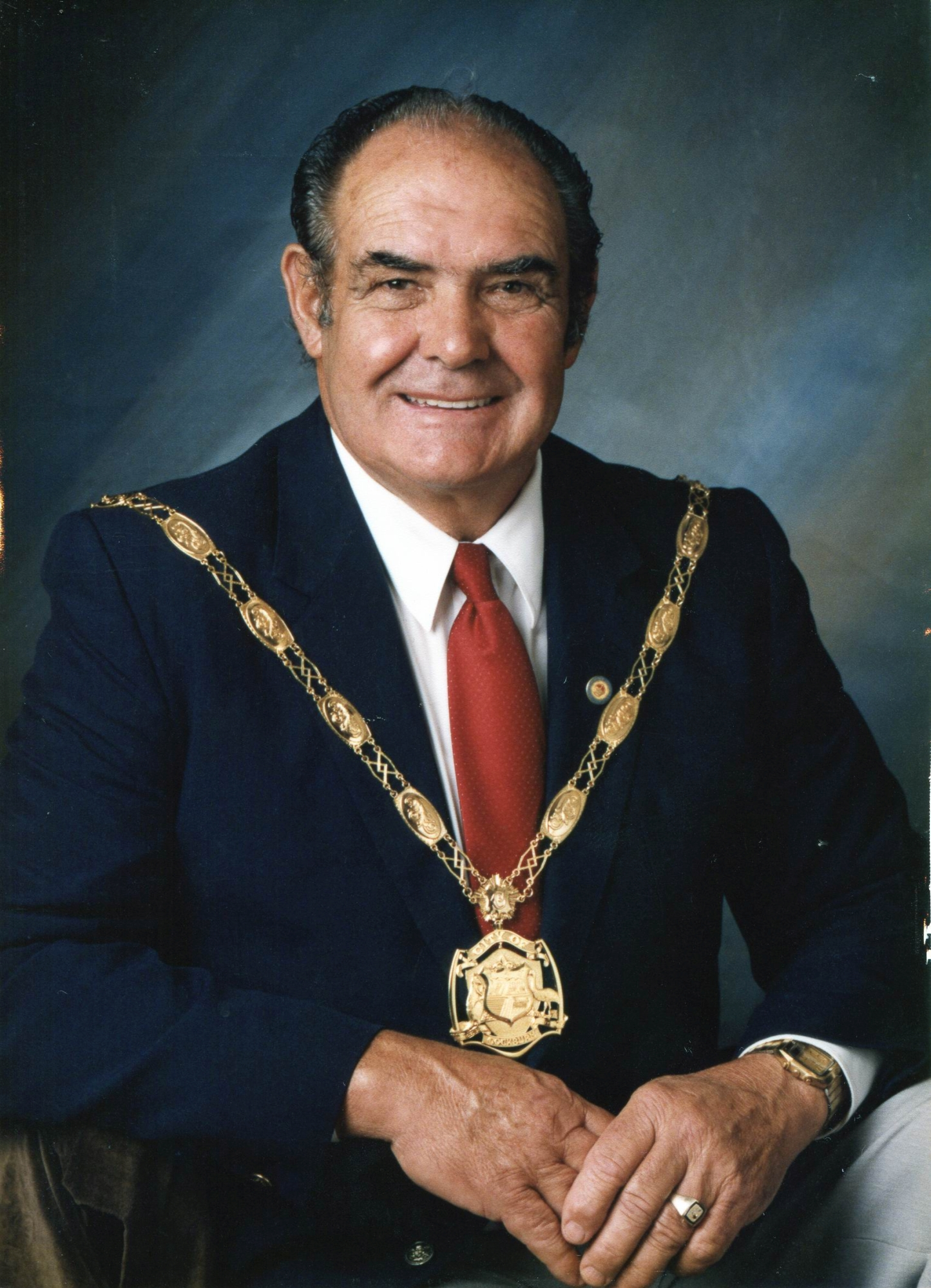 Former mayor the late Ray Lees.
