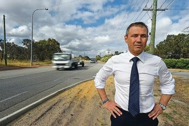 Roger Cook believes 80km/h should be the speed limit on the main truck route that is likely to become even busier over time.