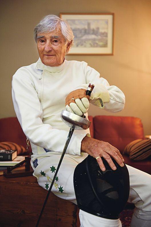 Champion epee fencer Peter Harbin. Picture: Marcus Whisson www.communitypix.com.au d427976