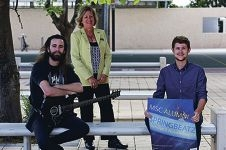 Mindarie Senior College principal Janice Sander with Leon Todorovich and Jake Morrison. Picture: Emma Goodwin d427908