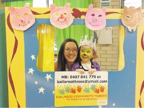 Eliana Chester with mum Helen in the photo booth.