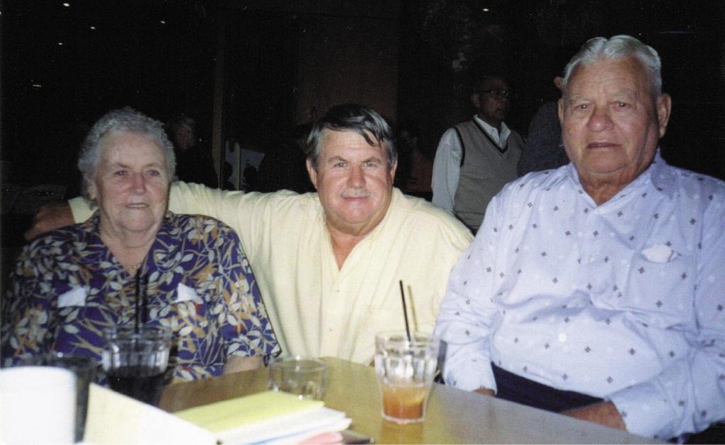 Trailblazing family: Alice, Graham and Ernie Gibbs.