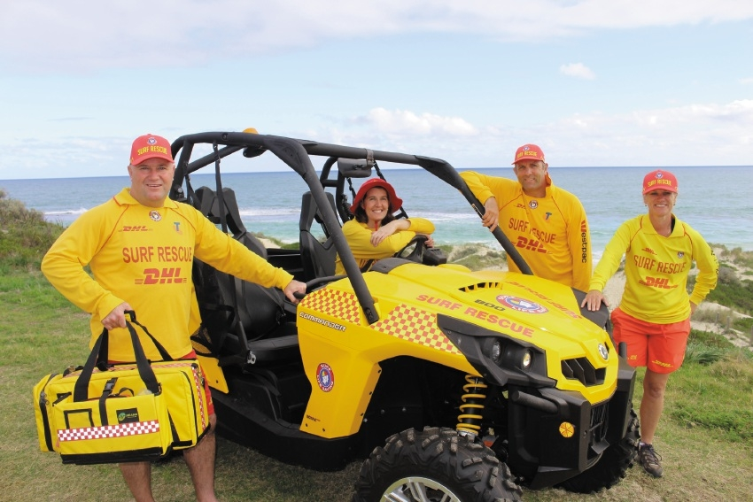 Yanchep Surf Life Saving Club president John Heesters with Jo Morey-Prior, Mark Elt and Bev Heesters.