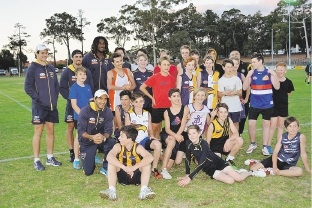 Kalamunda junior footballers enjoyed a visit from West Coast Eagles players.