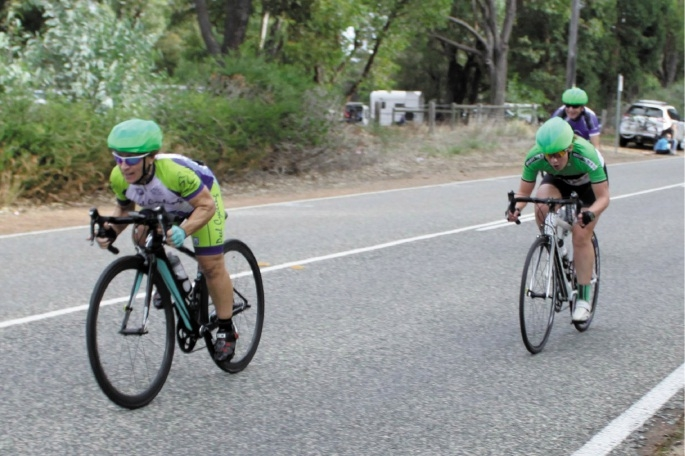 Connor Lambert (left) takes the win from Bernie Swart. Picture: Nick Cowie