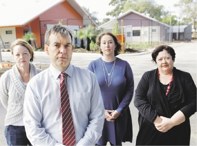 From left: Local Caversham resident Karen Mercer, Bassendean MLA Dave Kelly and East Metropolitan MLCs Samantha Rowe and Alanna Clohesy.