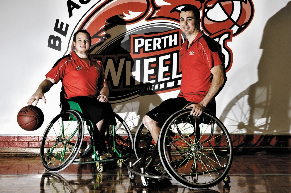 Wheelcats |co-captains Shaun Norris (left) and Justin Eveson.  Picture: Marcus Whisson  d402741