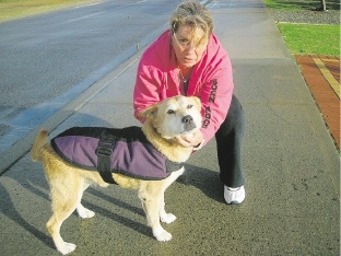 Courtney is reunited with her owner Georgina Wright.