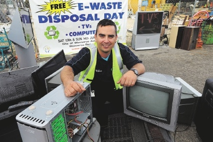 Waste operations supervisor Dan Vicencio. Picture: Martin Kennealey d438702