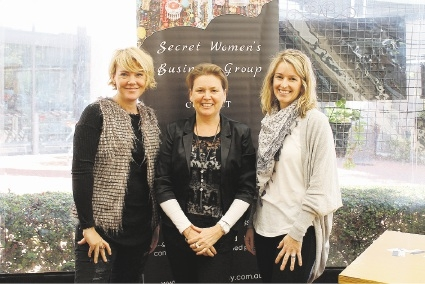 Cheri from The Travelling Trunk, Rowena Hateley from the Secret Women's Business Group and Jane from The Green Vase.