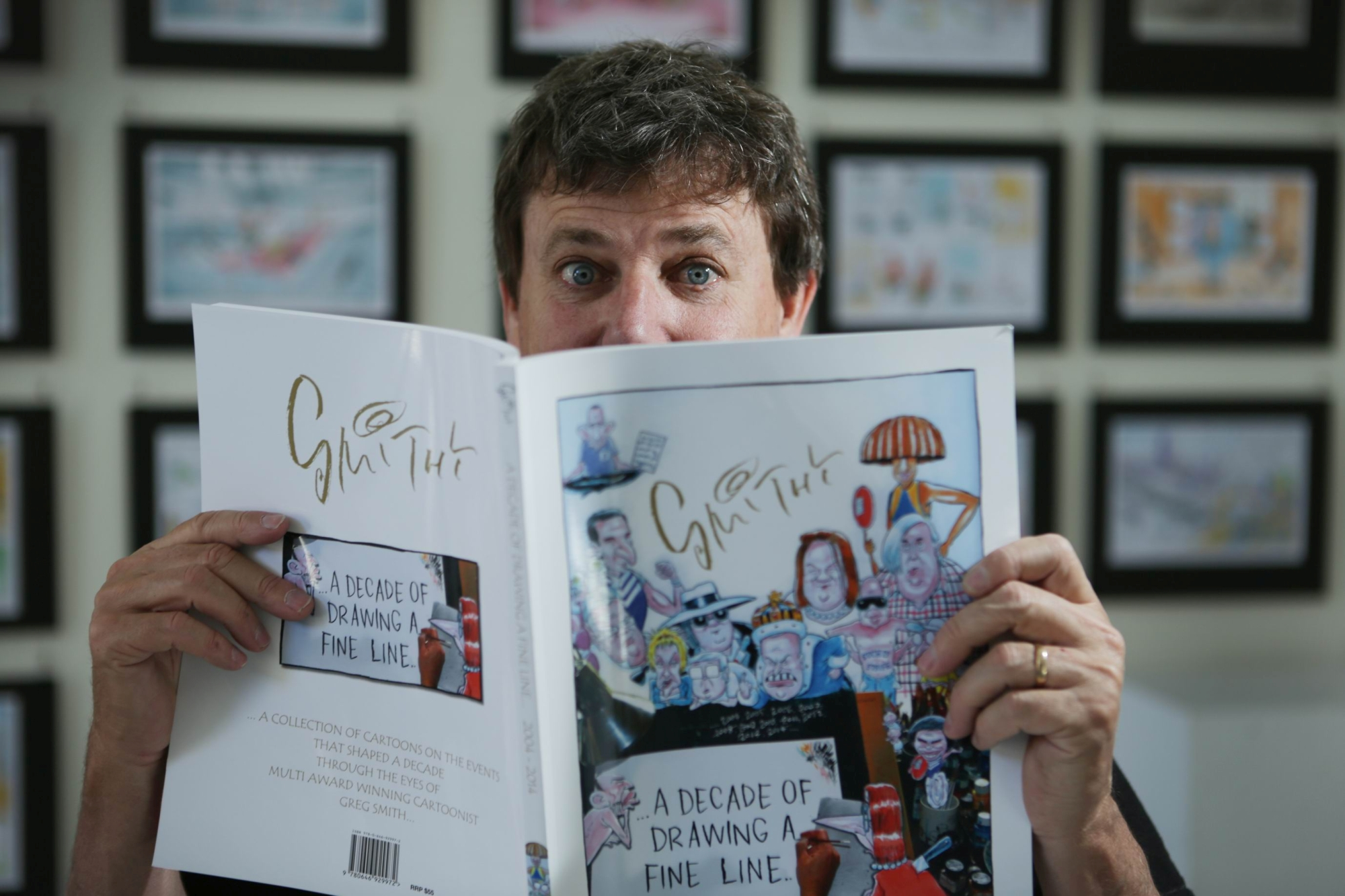 Cartoonist Greg Smith. Picture: Andrew Ritchie d428305