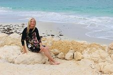 Wanneroo Mayor Tracey Roberts stepped out on to Quinns Beach after it reopened to the public last week.