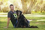 Pet Rescue's John Bishop with his dog Toby. Picture: Elle Borgward d428637