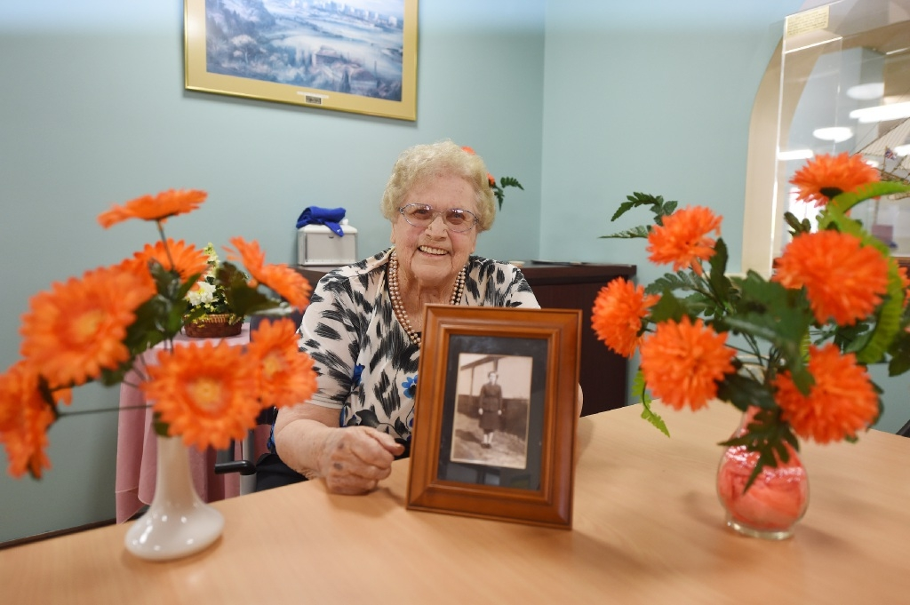 Betty Marches to Remember WWII Colleagues