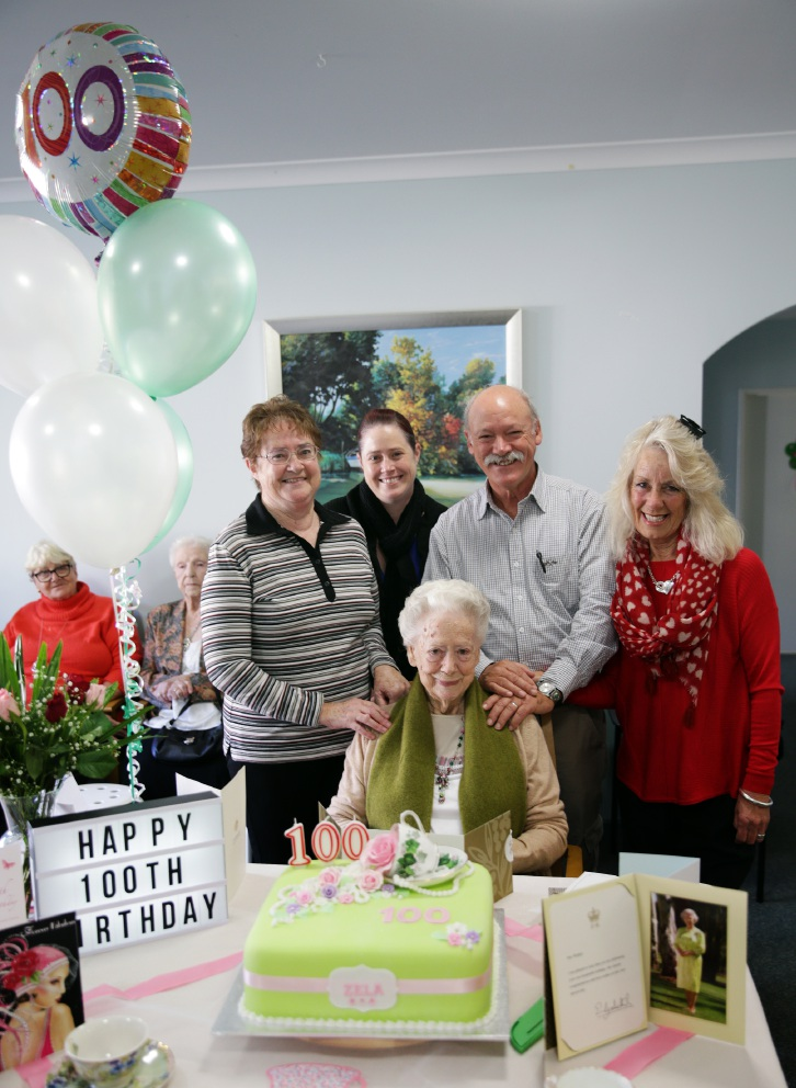 Zela Watkin with her daughter-in-law Carolyn Morse, granddaughter Jeni, son Barry Watkin and daughter-in-law Susie. d454852