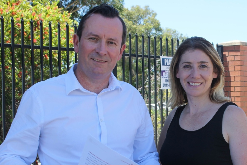 Mark McGowan with West Swan MLA and Rita Saffioti.