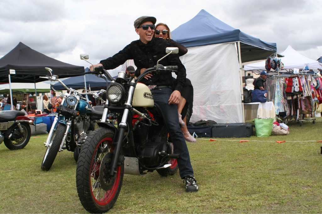 Wodan Moenssens won a competition at last year's Vintage Collective Markets with his 1975 Harley Davidson track racer replica.