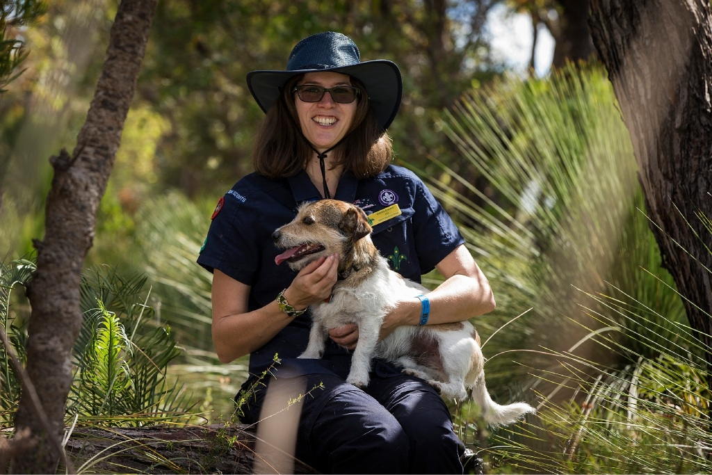 Dania Carson with her dog Buddy. Picture: Will Russell  d447600