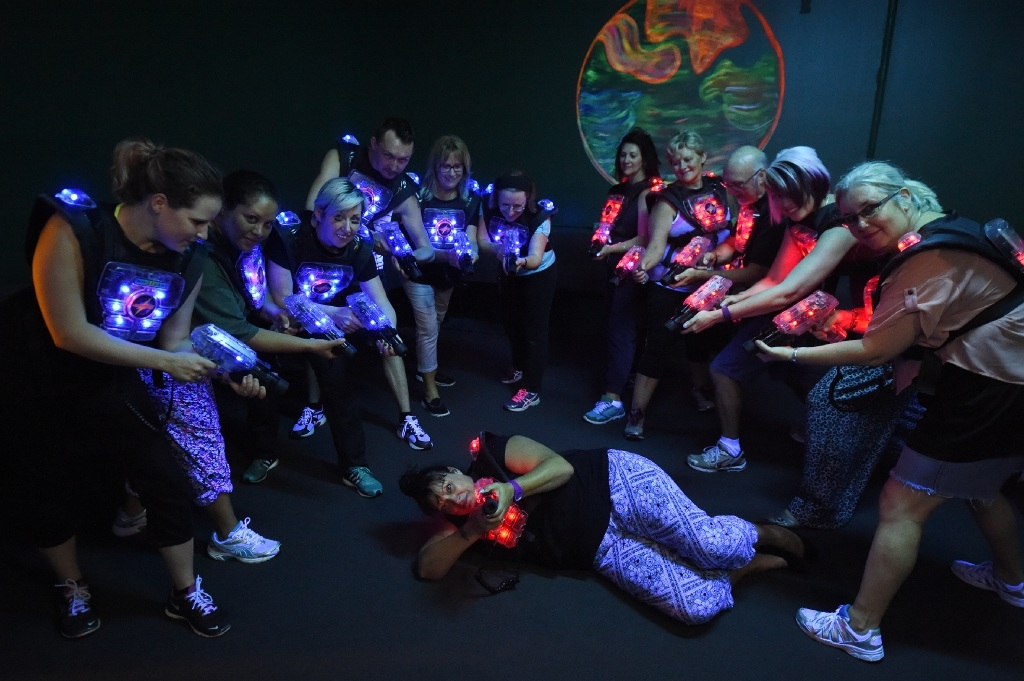Sharyn McCaskey says a game of laser tag at a Port Kennedy business is a great example of a creative client gift.
