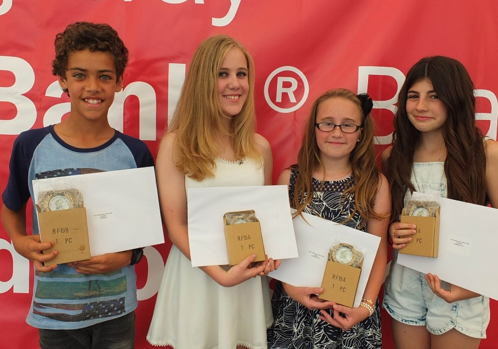 2015 Wanneroo Show Junior Idol Ashton Lavender, with Runners –up junior idols Isobel Green, Macy Waldram and Chloe Elbe. Picture: Bill Marwick