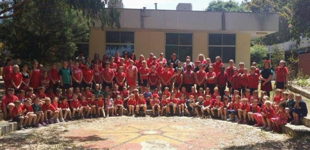 School staff and students wore red for Day for Daniel.