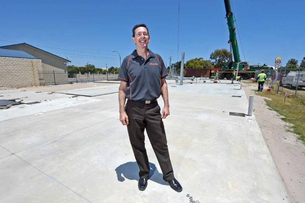 Stackit part-owner Ian Duperouzel says only a boom lift or cherry picker is needed to put up a module building.