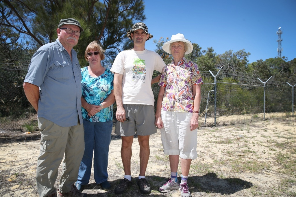 Leave our bushland alone: Friends of Dianella Bushland members Rick Denniston, Jan Bant, Graham Zemunik and Mary Gray don't want this corridor of land to be developed.Picture: Andrew Ritchie         www.communitypix.com.au   d447025